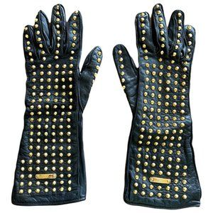 Burberry Prorsum Fall 2012 Gold Studded Gloves
